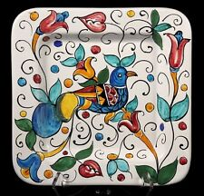 Vintage Collectible Hand Painted Larce Orvieto Italian Ceramic Hanging Plate