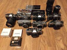 New ListingLot Of Olympus Vintage Cameras Om10 Pen Em Om G Om1 Lenses Accessories Japan