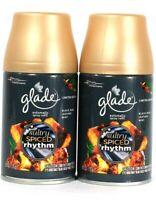 2 Glade 6.2oz Limit Edit Sultry Amber Rhythm Black Rum Leather Mint Spray Refill