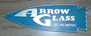 Vintage Plastic Arrow Glass Of Memphis Arrowhead Sign Tag