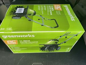 Greenworks 8.5-Amp 11-Inch Corded Electric Tiller/Cultivator, Green NEW