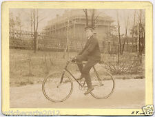 0507 FOTOGRAFIA BICICLETTA PRIMI DEL 900 BICYCLE EARLY PHOTO ON CARDBOARD