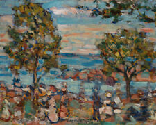 Beach Scene with Two Trees by Maurice Brazil Prendergast 60cm x 48cm Art Print