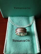 TIFFANY & CO. Sterling Silver ATLAS Grooved Ring