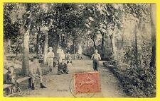 cpa RARE 78 HOUILLES (Yvelines) Le JARDIN de la MAIRIE Animée Parc Enfants 1904