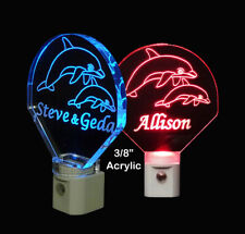 Personalized Dolphin Night Light - LED Night Light, Animal Gift