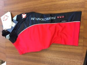 NALINI SHORTS Road Pant, Black w/red panel, synthetic chamois, size 2 (Small)