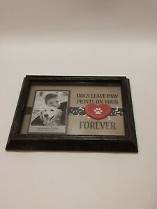 Dog Memorial Picture Frame 4 x 6 Photo Red heart