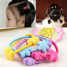 50pcs Kids Elastic Hair Band Ropes Rubber Hair Rope And Plastic Beads Wholesale