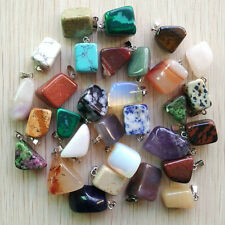 Good quality Assorted Natural Irregular stone Pendants 50pcs/lot wholesale