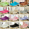 3/4Pcs Bedding Set Silk Twin Full Queen King Duvet Cover Fitted Sheet Bed Sets