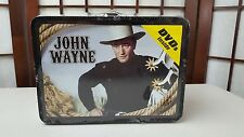 John Wayne Tin Lunch Box 5 DVD set Blue Steel Rainbow Valley Randy Rides Alone