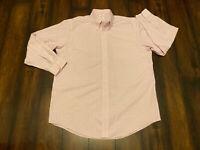 Brooks Brothers Madison Pink Plaid Button Dress Shirt Non Iron Supima Sz 16.5 34