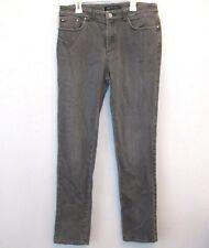 """Anne Klein Womens Jeans Stretch Straight Leg Size 6 Black Light Wash 30"""" Inseam"""