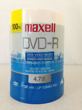 NEW Maxell DVD-R 4.7GB  DATA-VIDEO-MUSIC 100 PACK