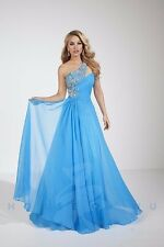 Panoply 14622 Turquoise Beaded Pageant Gala Gown Dress sz 2