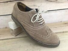 7878a3df880c1 Tommy Hilfiger Mens Brown Shoe Nubuck Leather TMStraus Wingtip Size 9 US 42  EUR