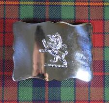 NEW PREMIUM SCOTTISH LION RAMPANT SCALLOPED BELT BUCKLE WITH CHROME FINISH