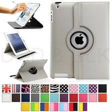 Para Apple iPad 2/3/4 360 Giratorio Magnético Pu Funda De Piel Smart Cover Stand