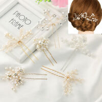 Accessories Crystal Hairpins Pearl Hair Pin  Bridal Clips Bridesmaid Tiara