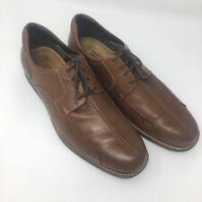 Johnston Murphy Men Shoes Derby 11 M Brown Leather Sheepskin Insoles 20-3300