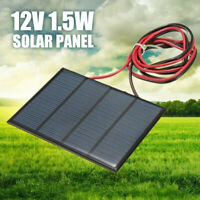 1.5W 12V Mini Power Solar Panel Small Cell Phone Module Charger With 1M Wire