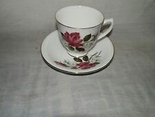 Vintage, Staffordshire, England, Royal Kent, Rose, Bone China, Cup & Saucer