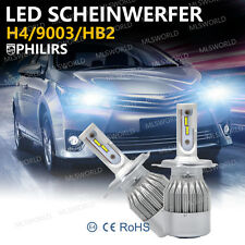 Philips Coppia 110W H4 LED Lampade Fari Lampadine Headlight Bulbs Bianca Canbus