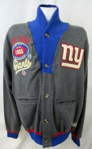 New York Giants Mens Large 3XL or 5XL Embroidered Cardigan Style Jacket AGIA 213