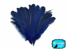1/4 lb - ROYAL BLUE Polka Dot Guinea Fowl Wing quills Wholesale Feathers (bulk)