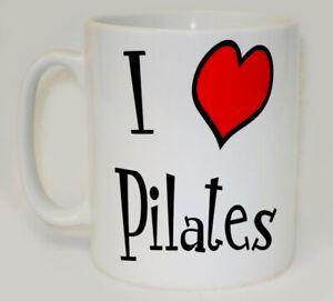 I Heart Pilates Mug Can Personalise Funny Love Namaste Yoga Excercise Gym Gift