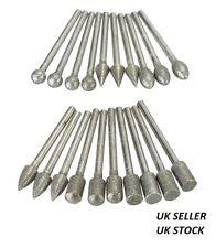 20pcs Diamond Grinding Burr Drill Bits Sets For Dremel Rotary Tools UK SELLER