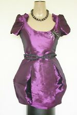 River Island BNWT Purple Spider Brooch Ballgown Dress Sz 10