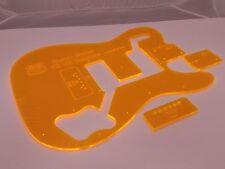 Acrylic Telecaster Deluxe Guitar Body Template Tele 72