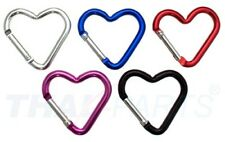 Surtido de aluminio mosquetones corazón 50 pzas. 5 colores 45mm
