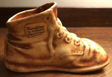 Vintage Charming METLOX MINIATURES California Ceramic BABY BOOT Shoe wlabel Rare
