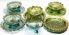 11 Moser Bohemian Glass Gold Enameled Finger Bowls & Under Plates C 1900