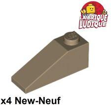 Lego - 4x slope brique pente inclinée 33 3x1 beige foncé/dark tan 4286 NEUF