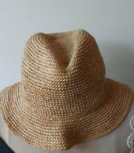 RALPH LAUREN floppy straw hat