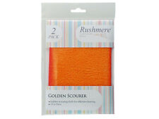 Rushmere Golden Scourer Non Scratch Cleaning Scouring Cloth Pack of 2 Scourers