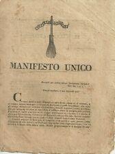 Manifesto Unico il Raccoglitore Giornale Umoristico Fiorentino 21 Febbraio 1819