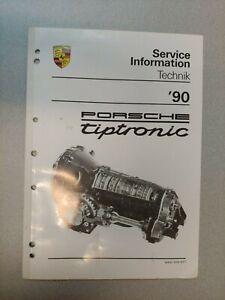 Utilisé Original Véritable 1990 Porsche Tiptronic Service Information Technik
