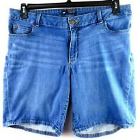 Lee blue denim modern series curvy fit embroidered spandex stretch shorts 20WM