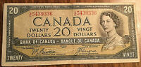 1954 CANADA 20 DOLLARS BANK NOTE - G/E - Beattie/ Coyne
