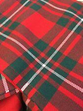 MACGREGOR RED TARTAN - PURE NEW WOOL, 120cm x 69cm #