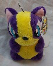 """Neopets Pet Pets Purple & Yellow Mazzew 3"""" Plush Stuffed Animal Toy New w/ Tag"""