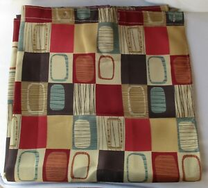 SQUARE ONE FABRIC SHOWER CURTAIN NEW