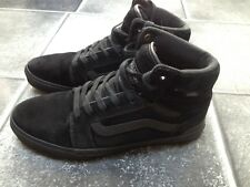 Vans All Weather Black Suede/leather Hi Tops, UK7, EU 40.5
