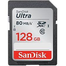 SanDisk 128GB SD SDHC Cards Ultra UHS-I Class 10 SDXC Memory Card, Black,