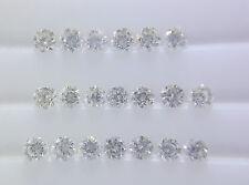 1.2mm 0.16cts 20pc Natural Loose Brilliant Cut Diamond VS-SI Clarity G-H Color